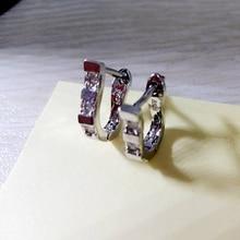 2018 New Cubic Zirconial Earring Geometry Jewelry Silver Plated Female Fashion Earrings For Women U Shape Stud Earrings