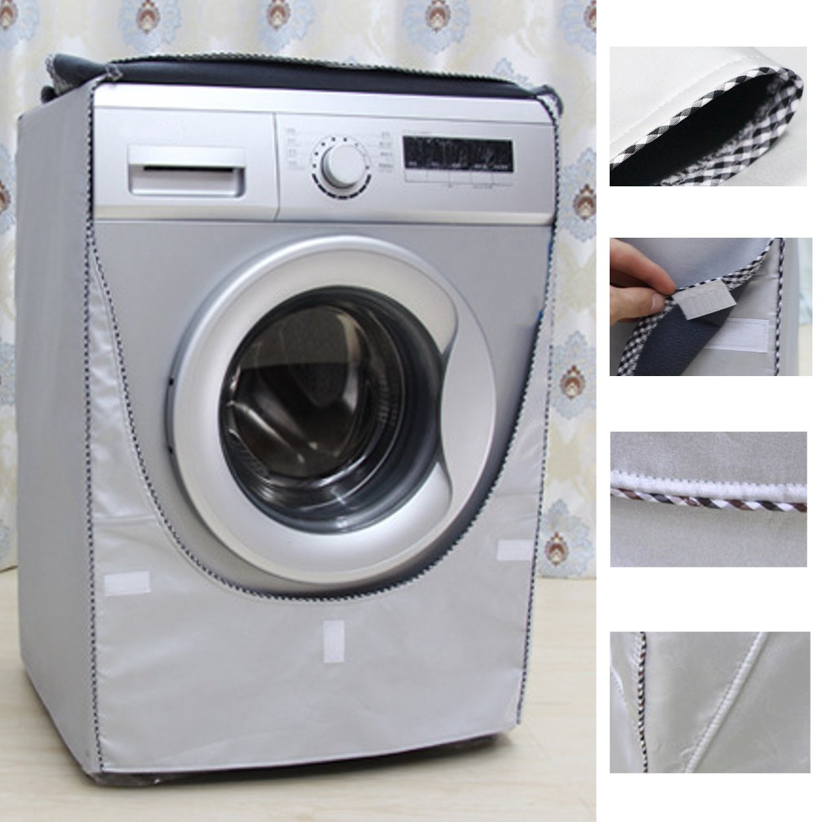 Polyester Waterproof Cover Washer Sunscreen Washing Machine Dryer Household Automatic Roller Machine Silver Dustproof Dust Cover