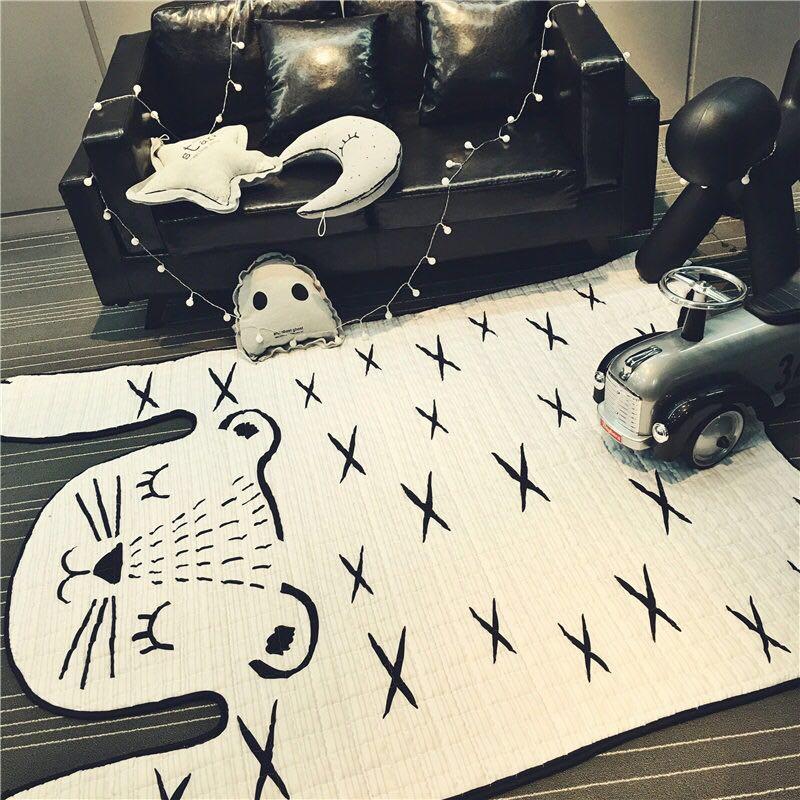 130*185 CM tigre enfants tapis tapis nordique Super antidérapant pratique Pad couverture tapis enfants escalade tapis de jeu salon tapis