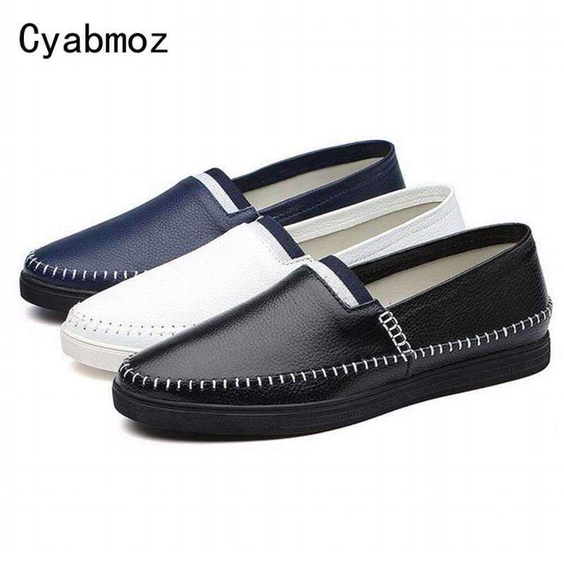 Men Moccasins Fashion Genuine Leather Man Flat Loafers Casual Shoes Soft Driving Shoes Slip On Peas Single Shoes zapatos hombre 2016 new fashion autumn real genuine leather formal brand man loafers men s casual croco printed slip on flat shoes glm242