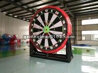 MZQM 3m big inflatable foot dart board/inflatable football soccer dart board game/giant soccer darts game