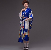 Japan Womens national costume and official stage photo portrait pagoda beauty show