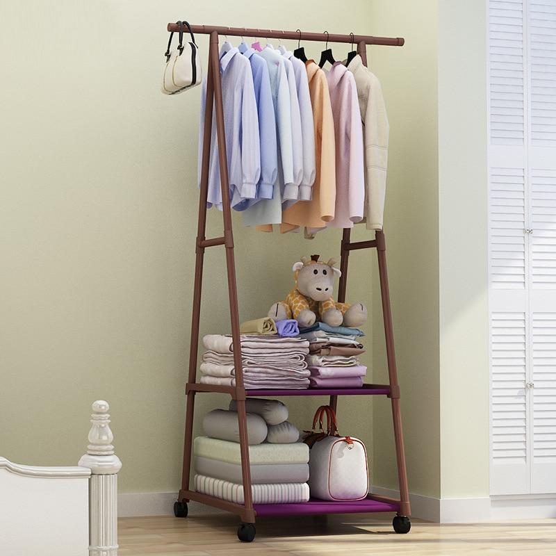 Simple Floor-to-floor Clothes Rack  Household Bedroom Clothe Rack Bag Rack Children's Clothes Rack Furniture