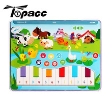 Early Educational Functionally Pad Farm Animal Learning Kid Cute Multi-functional Piano Button Fun For Children Baby Music цена и фото