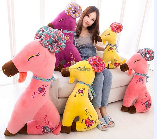Fancytrader 2014 New  Arrival 37'' / 95cm Lovely Giant Plush Sheep, Plush Giant Goat, 3 Colors Available! Free Shipping FT50040 fancytrader 39 100cm giant plush lovely rubber duck cute birthday present gift and decoration free shipping ft50007