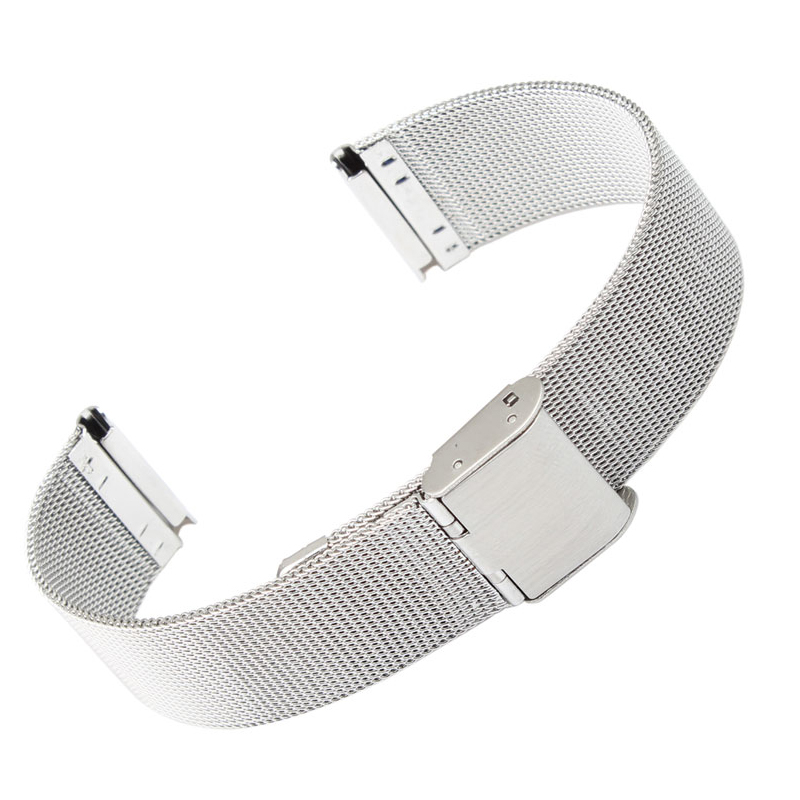 ultra-thin Stainless steel Watchband Mesh strap silver bracelet 8mm 10mm 12mm 14mm 16mm 18mm 20mm 22mm 24mm Bracelets Watch band loose stainless steel silver shark mesh watchband bracelets special end safety buckle 18mm 20mm 22mm 24mm promotion men s straps
