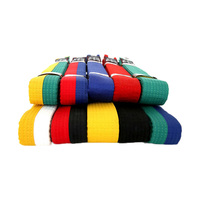 2016 New 100 Cotton Taekwondo Belt Colorful White Yellow Red Green Blue Black Professional Belt Martial