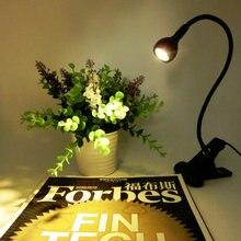 Светодиодная светодиодный настольная лампа с зажимом 1 Вт Гибкая Светодиодная лампа для чтения USB блок светодиодный Светодиодные ночные огни