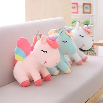 Плюшевая игрушка единорог милая кукла-единорог милые игрушечные животные Единорог Мягкая Подушка Детские игрушки для девочек на день рожд... >> SQHOHO Toy Store