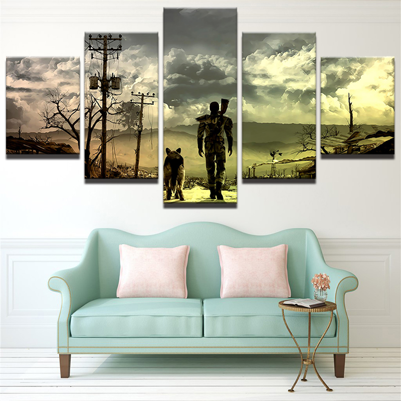 Canvas HD Printed Painting For Living Room Picture Frame Modern 5 Panel Animation Characters Poster Wall Art Home Decor PENGDA