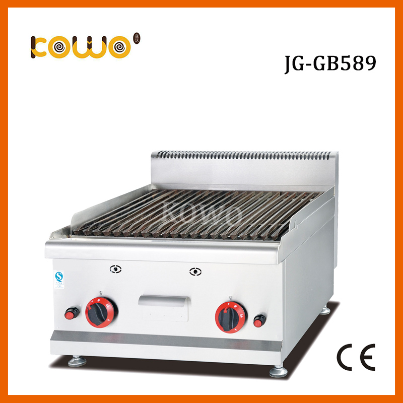 цены JG-GB589 2 burner professional flat top stainless steel lava stone gas barbecue bbq grill for resturant kitchen equipment