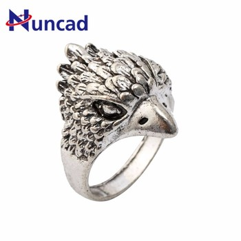 Punk Rock Owl Finger Ring For Men Cool Silver Color Retro Anel Masculino Knuck Ring For Party Jewelry Gift Drop Shipping image