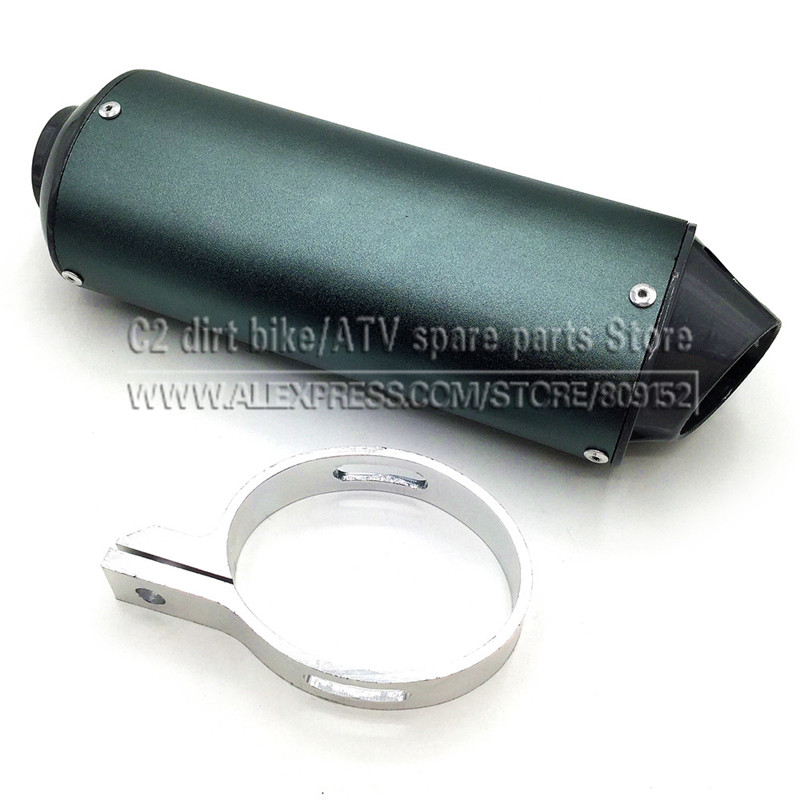 28 mm 38 mm de conexión Silenciador de escape para moto sucia / pit - Accesorios y repuestos para motocicletas