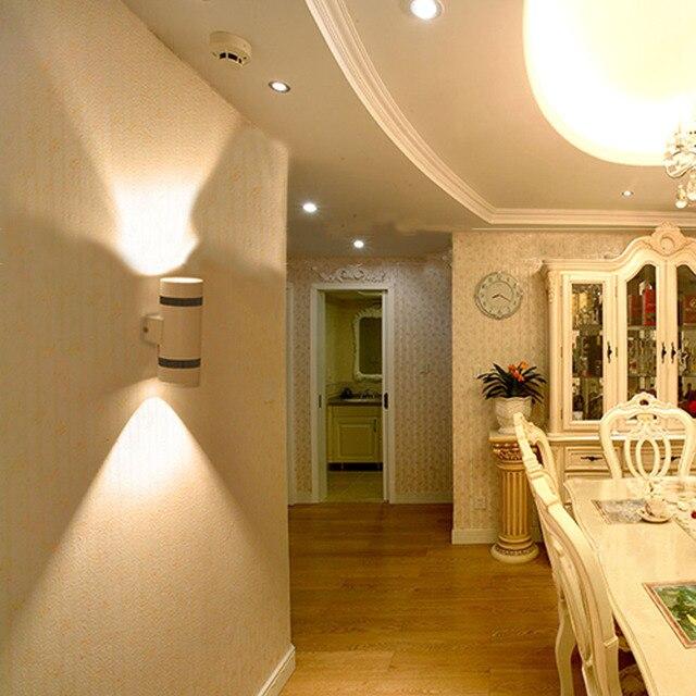 w cilndrica lmpara de pared llevada moderna iluminacin para el hogar decoracin de interior y