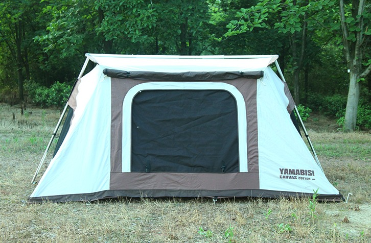 Cotton Canvas Waterproof C&ing Hiking Tent Four Season 4 Person Tent-in Tents from Sports u0026 Entertainment on Aliexpress.com | Alibaba Group & Cotton Canvas Waterproof Camping Hiking Tent Four Season 4 Person ...