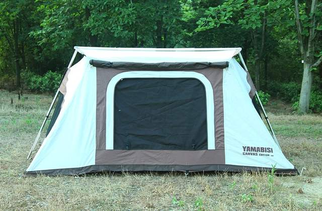 detailed look cf821 15a10 Cotton Canvas Waterproof Camping Hiking Tent Four -Season 4 Person Tent