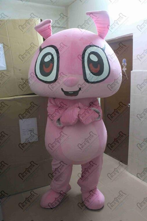 Mignon lapin mascotte costumes rose lapin marche acteur