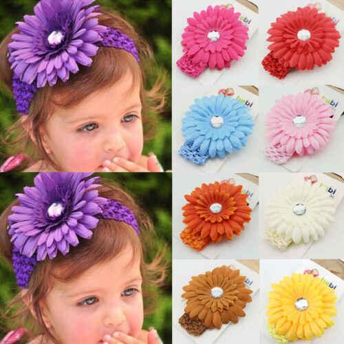 ทารกแรกเกิดเด็กทารก Toddle ชีฟองดอกไม้ Headwear Hairband ทารกของขวัญ
