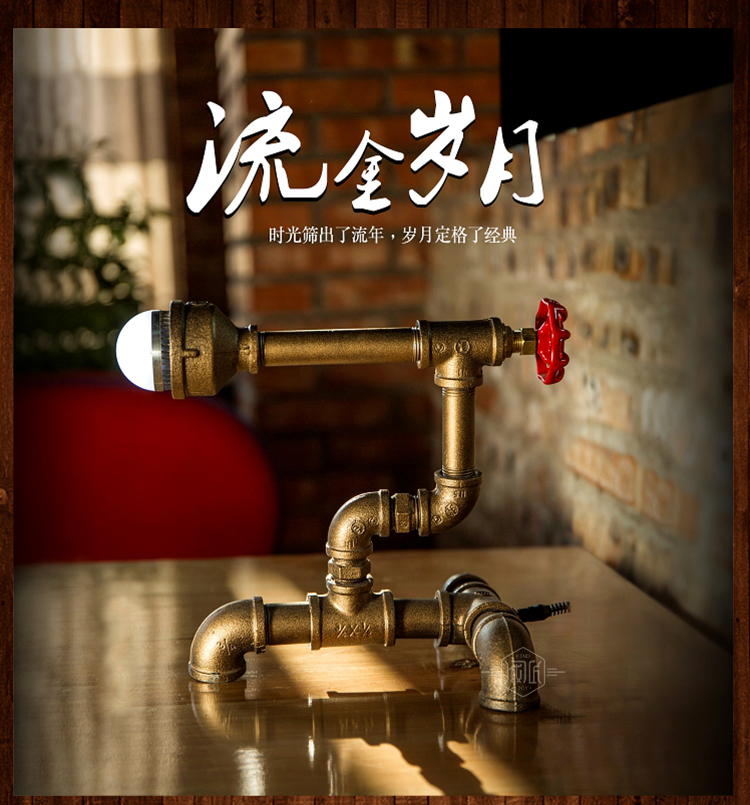 Industrial Water Pipe Desk Lamp LED Vintage E27  Iron Wrought Art Collect Table Lamps Fit for Bar Cafe Decoration -FJ-DT1S-010A0 loft led light iron pipe lamp bronze water pipe desk lamps table lamps decorate study room bedroom cafe bar fj dt1s 012a0