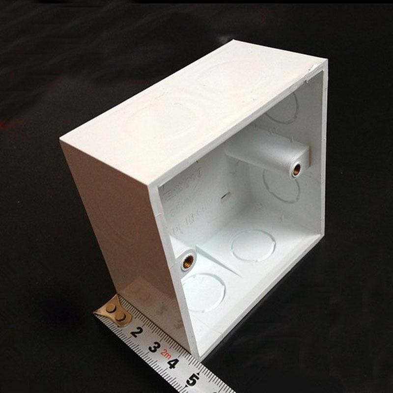 10pcs 86 Type PVC Flame Retardant Junction Boxes Surface Mount Wiring Bottom Box For Wall Switch Socket Thicker