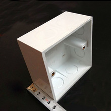 10pcs 86 Type PVC Flame Retardant Junction Boxes Wiring Bottom Box Push Button Switch Thicker Outlet