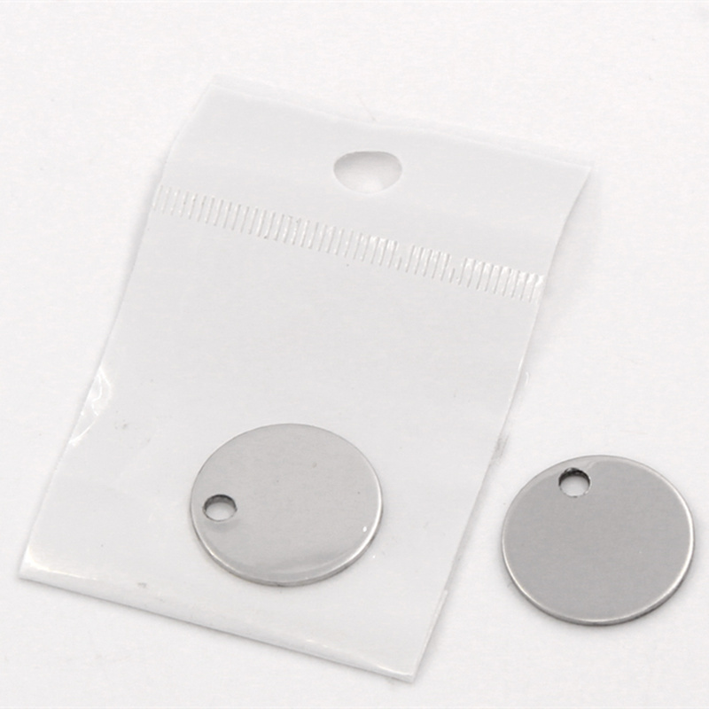 20Pcs Silver Tone Round Stainless Steel Blank Stamping Tags Charms Pendants DIY Jewelry Making 20mm/30mm