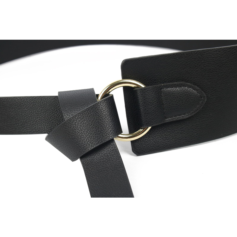 HTB1sdFhbinrK1RjSsziq6xptpXa9 - New Black Wide Corset leather Belt Female Tie Obi Waistband thin brown Bow leisure Belts for Women Wedding Dress Waistband lady