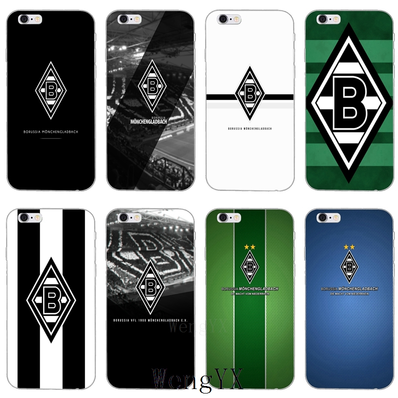 For Borussia Monchengladbach fc TPU Soft phone cover case For Samsung Galaxy S3 S4 S5 S6