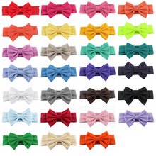 10pcs/lot High Quality Kids Cotton Headbands With 11CM Bows For Birth Girls Top Quality Headwear