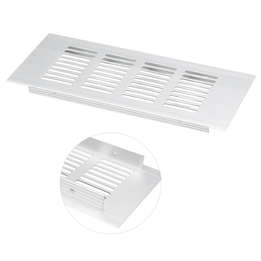 Uxcell New 2pcs Rectangle Shape Air Vent Ventilation Grille Aluminum Alloy Louvered Grill Cover 150mmx80mm 200mmx80mm