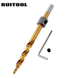 9,5 мм сверло HSS 4341 древесины дрель с остановить кольцо для карманных отверстия джиг