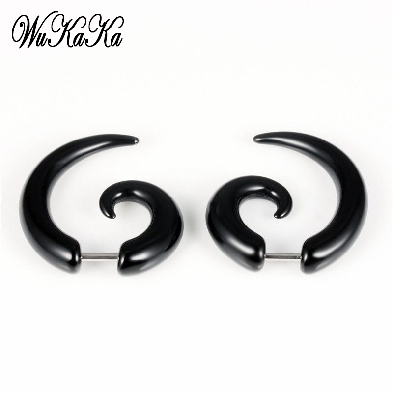Wukaka Black Snail Ear Studs Earring Male Bull Claw Earrings For Men Boy Punk Men Earring 2020 Men Jewelry Drop Shipping