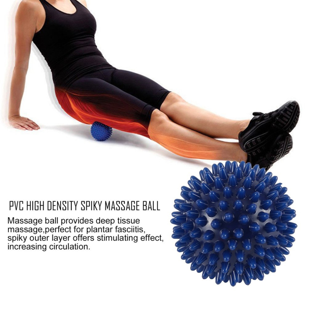 Hot Sale Fitness ball 75mm Durable PVC Spiky Massage Ball Trigger Point Sport Hand Foot Pain Relief Trustworthy Dripship