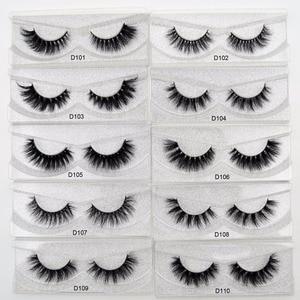 Image 2 - Free DHL 100 Pairs Wholesale 3D Real Mink Eyelashes High Quality Handmade False Eyelashes Extension 68 Styles Mink eyelashes