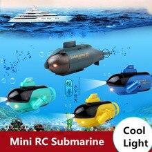 2017 new mini wireless RC boat 777-219 4ch Radio Control Submarine Mini RC kids toy model with LED light vs  XC80914