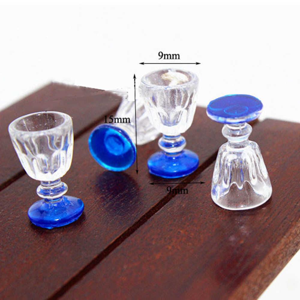 10pcs 1//12 Dollhouse Miniature Metal Wine Glasses Simulation Cup Model DIY Toys