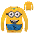 2016 New Minion Children T Shirt Despicable Me 2 Minions Clothes Pullover Boys Girls Clothing Autumn Tops Girls Nova For 2-10T