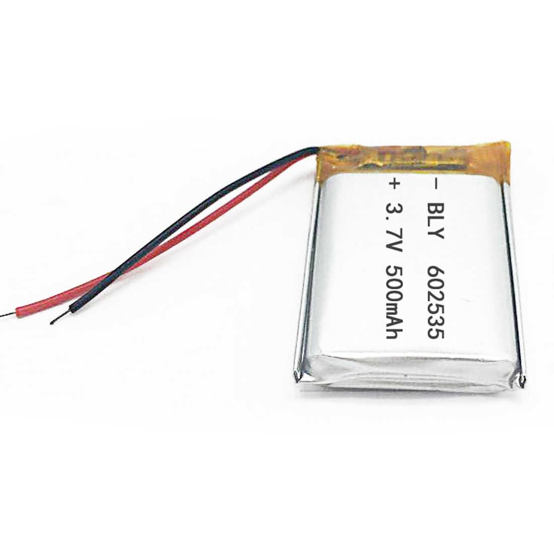 Перезаряжаемые литий-полимерный аккумулятор Батарея 3,7 V 500 мА/ч, 602535 зарядное устройство для литий-ионные аккумуляторы для MIO тахограф hp F300 F200 QStar A5 видеорегистратор parkcity