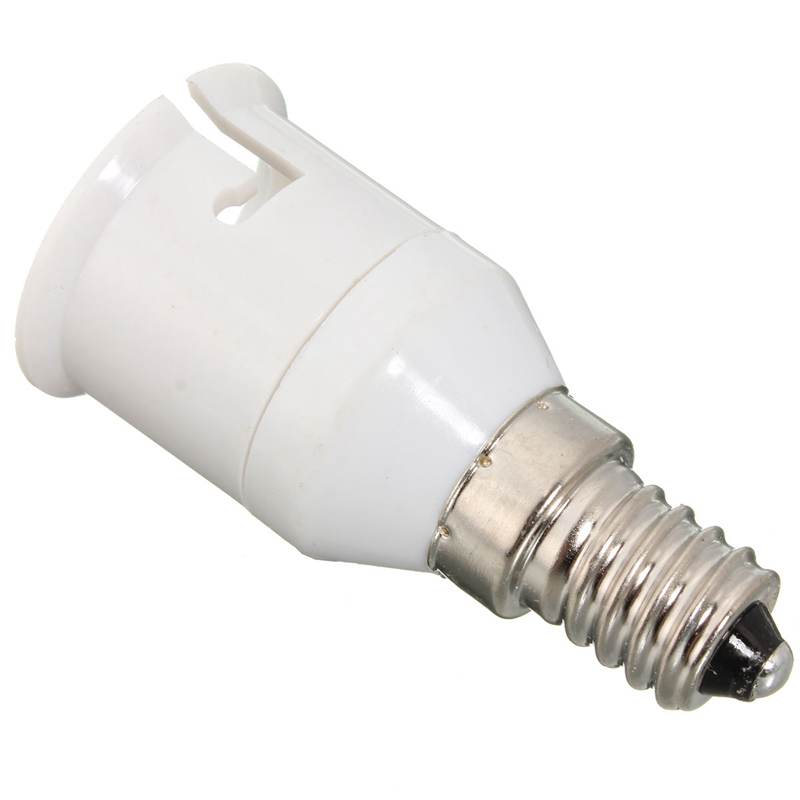 Conversion Lamp Holder Convertor Adapter E14 To B22 Lamp Base Socket LED Light Bulb Lamp Bases 220-230V White
