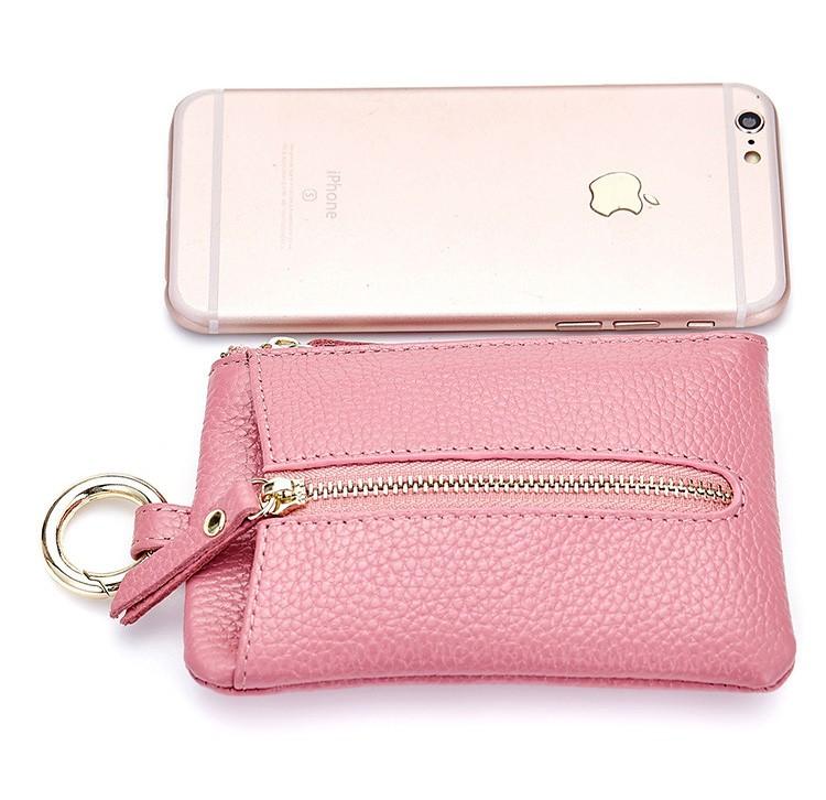 Women genuine leather key wallet 20