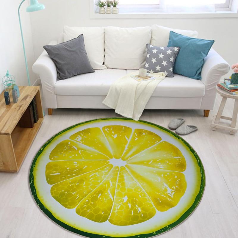 HD 3D Fruit Printed Carpet for Living Room Soft Crystal Velvet Parlor Kids Bedroom Chair Rugs Bathroom Non-slip Mat tapetes