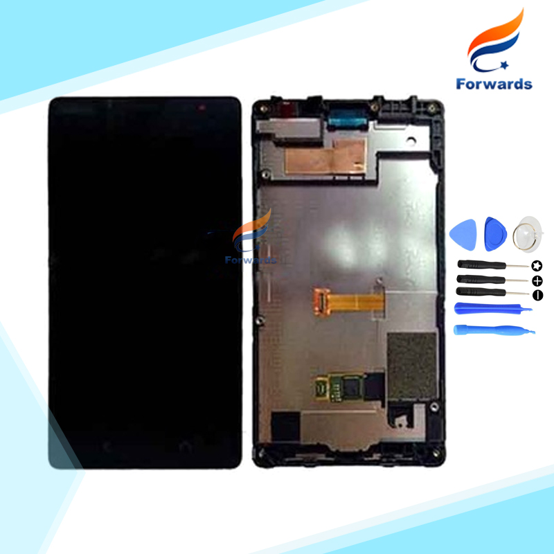 New Replacement for Nokia X2 Dual SIM RM-1013 X2DS Lcd Screen Display with Touch Digitizer Frame Assembly 1 piece Free Shipping