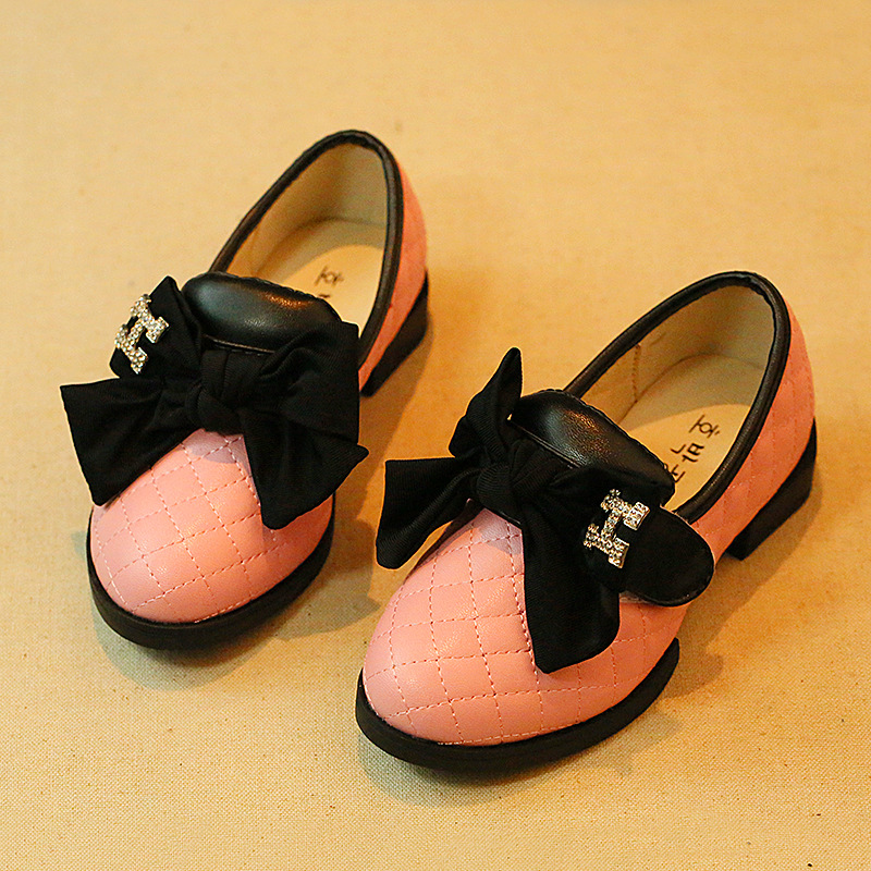 New Arrival Autumn Children Girl Shoes with Bow Fashion Girls PU Princess Shoes Kids Shoes 2016 new arrival fashion kids shoes pu leather children shoes for boys
