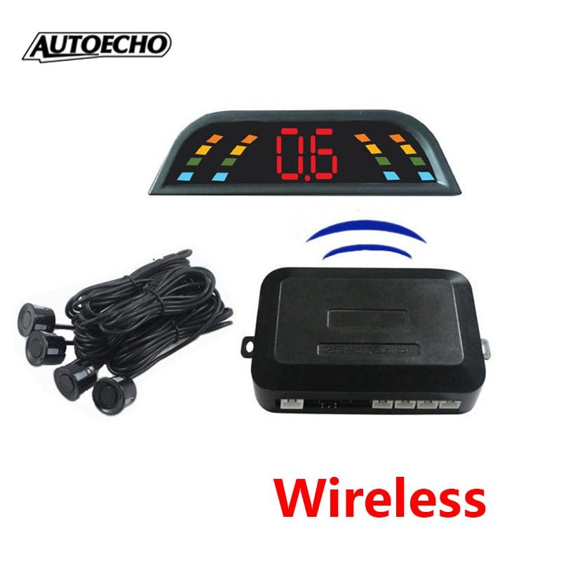 Wireless Parking Sensor Kit 4 Buzzers LCD display Car parktronic Assistance Auto Reverse Backup Radar Monitor System detector