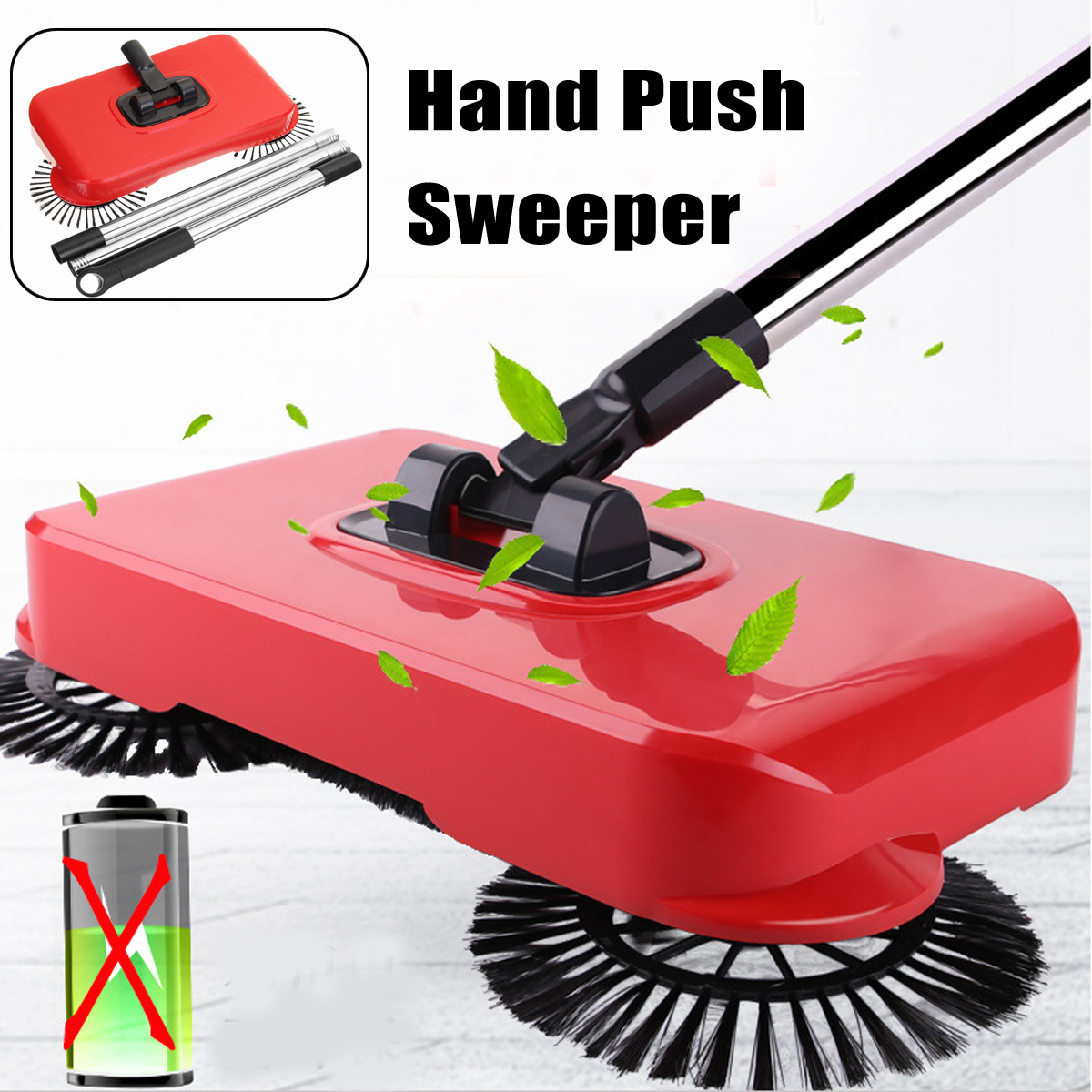 Spin Broom Hand Push Sweeper Clean Your Home Easy Without Electricity 360 Rotation Laziness Hand Sweep Machine spin sweeper broom long handle floor broom