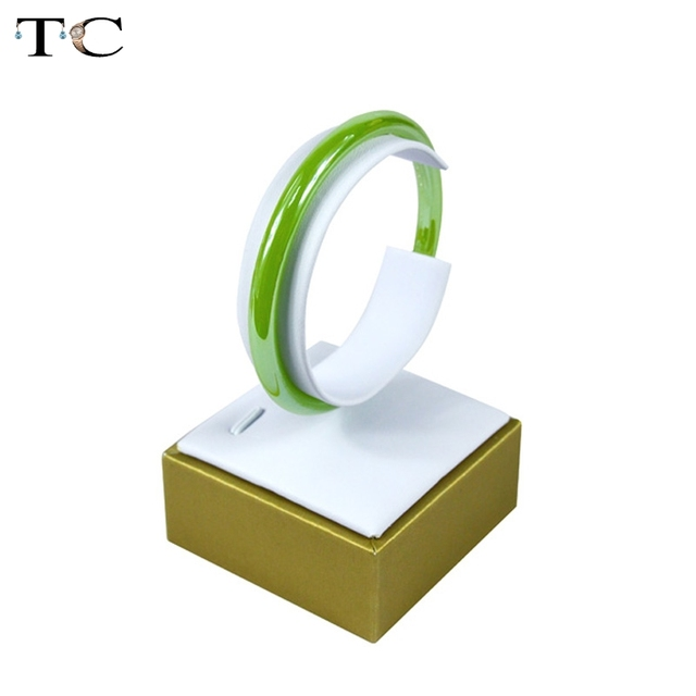 Whole 10pcs Lot Jewelry Display Bracelet Holder Bangle Stand Jewellery Showed Gold With White Color