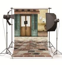 Crianças Fundos Fotográficos Cafe Loja Ao Ar Livre Foto Backdrops Fotografia Vinil Fundos Para Estúdio de Fotografia Fundo de Pano