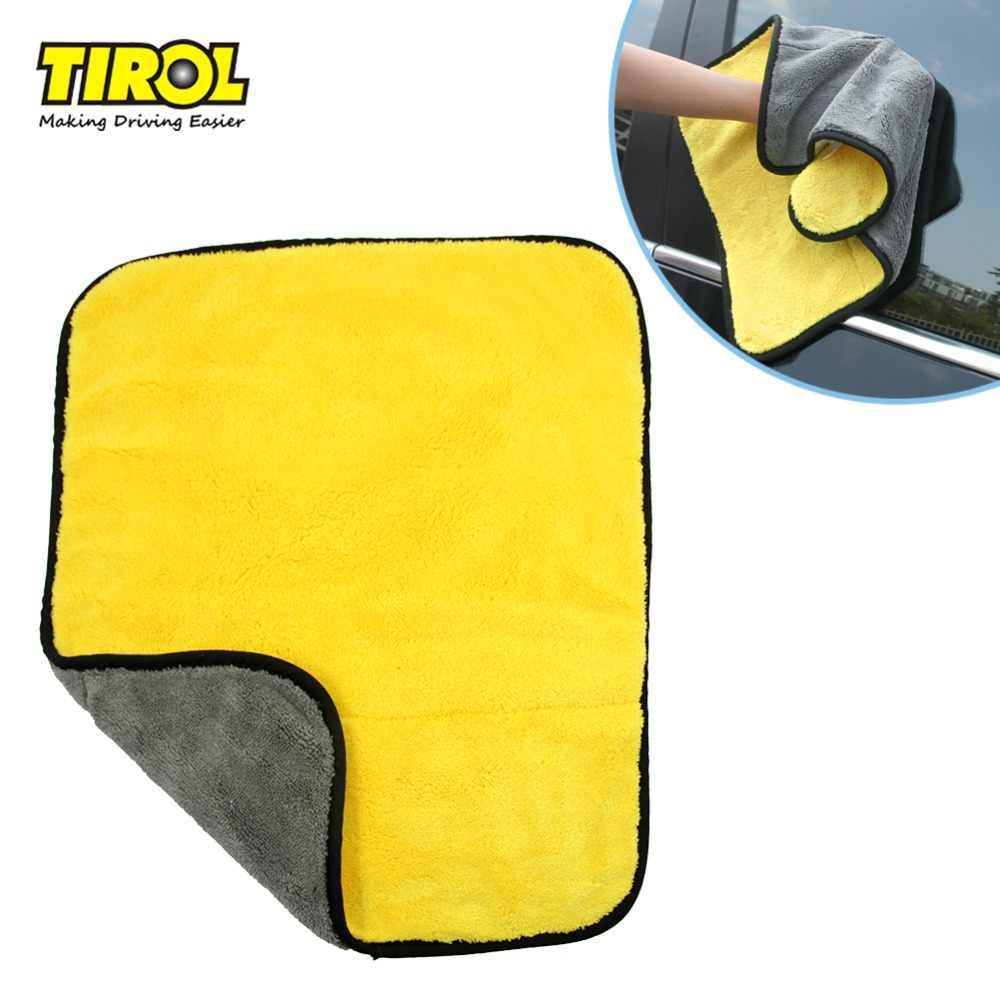 Tirol mikrofiber havlu T22449a araba temizlik havlusu 45*38cm bicolor çok fonksiyonlu yıkama bezi araba temizlik aracı ücretsiz kargo