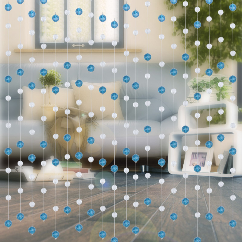 Clearance Sale New Glass Crystal Beads Curtain Window Door Curtains For Living Room Office Passage Wedding Backdrop