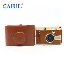 Caiul do vintage bolsas de couro pu para câmera lomo lomography instante sanremo li100 li800w/b/lux/vt/xol/verão/primavera sacos de ombro